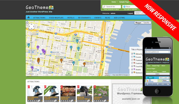 Geolocation WordPress Business Directory Theme